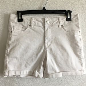 d.jeans shorts white womens size 6